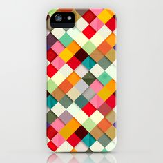 """We wish chess boards could be this colorful. Danny Ivan's """"Pass this On"""" iPhone case is available for several generations and Samsung Galaxy at Society6."""