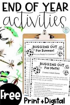 Check out this FREE summer writing and math activities for the end of the year! They're perfect to keep your students engaged at the end of the school year. The writing activity makes a great end of year bulletin board and the math activity promotes reflection, cooperative learning and critical thinking. Click the pin to grab your free copy! End Of Year Activities, Writing Activities, Classroom Activities, School Forms, First Year Teaching, Teacher Freebies, Meet The Teacher, Cooperative Learning, Free Math