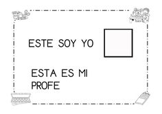 Fichas mi cole periodo de adaptacion Math, School, Montessori, Projects, Personal Identity, First Day, Crayons, Math Resources, Early Math
