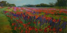 """Vibrant Field""  Karen Lee Crenshaw Oil 1st Place – 2016 National 2D Competition : Cape Fear Studios"