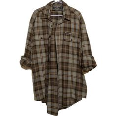 Shit for Polyvore ❤ liked on Polyvore featuring tops, blouses, shirts, flannel, flannel blouse, flannel shirts, brown tops, shirts & tops and brown shirt
