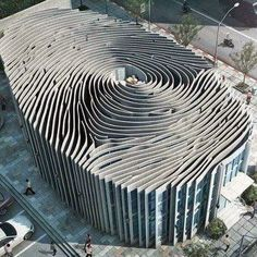 Finger print building in Thailand #design #architecture