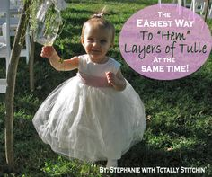 The Easiest Way to Hem Tulle Layers Evenly All At Once!