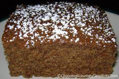 Mix in the pan applesauce cake