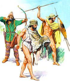 """• Scythian archer, V century BC  • Lightly armed warrior """"Psili"""", V century BC  • Athens dart thrower, second half of the V century BC   Andrey Karashchuk"""