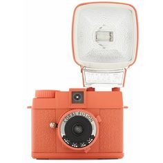 Special Edition Diana Mini Camera in Coral Fusion ❤ liked on Polyvore featuring camera, fillers, accessories, tech and stuff