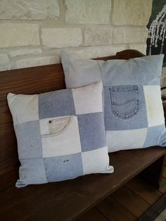 Don't throw away old jeans.  Make great pillows!