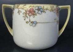 Noritake Nippon Hand Painted Sugar Bowl No Lid Pink Blue Flowers Gold Moriage   eBay