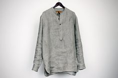 Shirt from 100 natural linen for male by DoroTheus on Etsy, €83.00