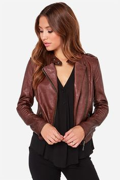 Burgundy motos are going to be big this year. Cute (and relatively inexpensive vegan option) #featuredpin