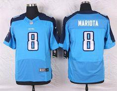 Tennessee Titans #8 Marcus Mariota Elite Light Blue Team Color NFL Jersey