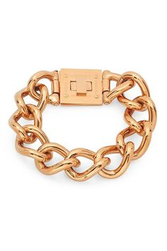 Greek Key Accent Cuban Bracelet by HMY Jewelry on @HauteLook