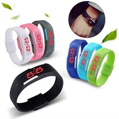 0.92$  Watch now - http://alioet.shopchina.info/go.php?t=32762017988 - Popular Men's Women's Silicone Red LED Sports Bracelet Touch Watch Digital Wrist Watch  #buyonlinewebsite