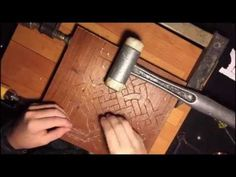 DIY detailed copper wire inlay - YouTube