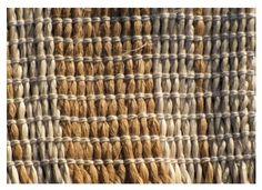 Detail of muka whenu, cotton thread aho.