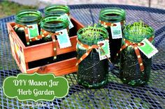 Mommy's Kitchen - Country Cooking & Family Friendly Recipes: DIY Spring Project: Mason Jar Herb Garden