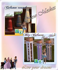 Hello dear Community,  here is our todays Updates this 5 New Meshes from Adina and Sunny,have fun with it. http://www.sims3dreams.at/wbb/index.php?page=Thread&postID=47647#post47647 greetings your Sims Dreams Team