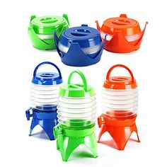Ancdream 5.4L Collapsible Folding Water Dispenser Portable Drinks Container Camping With Tap