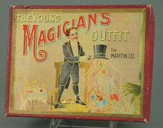 Great vintage magician's outfit box from early 1900's