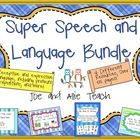 Save money with this speech and language bundle! Four of our most popular SLP activities that meet a variety of needs and goals. 55+ pages! $9