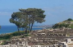 The Beautiful Sea View From The Old Ancient City Of Kamiros - Rhodes Greece City O, Rhodes, Paris Skyline, Greece, Old Things, Sea, Island, Water, Travel