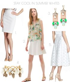 5.17.2014  Cool #summer #whites are #hot! And #comfortable too. Treat yourself to a fun and #wispy layered short #skirt, or classic sleek pencil cut, or an elegant #cotton-silk blend #midi. Whether #slim, #flared, #short, or #long, these season favorites of mine are simply a #breeze to wear.  Get cool here: www.fash365.com  #boss #zara #jcrew #milly