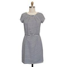 Megan in Black Strips  #stripes