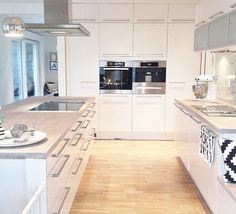 kitchen, home, and interior image Open Plan Kitchen Living Room, Kitchen Room Design, Modern Kitchen Design, Home Decor Kitchen, Interior Design Kitchen, New Kitchen, Home Kitchens, Refacing Cuisine, Cuisines Design