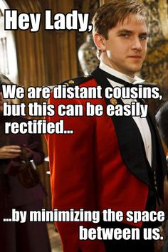 Matthew Crawley. It did come from a pretty funny blog.