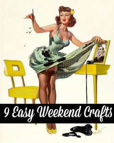 Looking to be creative this weekend? Here are 9 easy and fun crafts that will only take three hours or less! #easy_crafts #weekend_projects