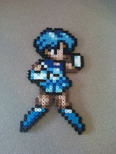 Perler Bead Sailor Mercury by ~craftemu on deviantART