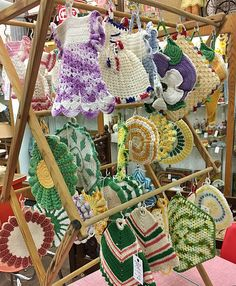 Vintage crocheted hotpads, dealer 23