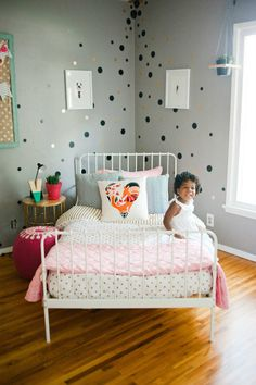 Chic soft grey kids room | 10 Ecclectic Kids Rooms