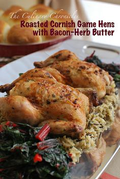 Roasted Cornish Game Hens with Bacon-Herb Butter by The Culinary Chronicles, via Flickr