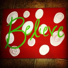 Christmas Believe Canvas 12 x 16 Flat Canvas by EmmieMaes on Etsy, $15.00