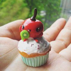 Polymer Clay Charms, Facebook, Desserts, Handmade, Food, Tailgate Desserts, Deserts, Hand Made, Essen