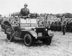 General #Patton in his famous War Eagle #Jeep 4x4