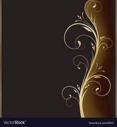 Floral designs vector image on VectorStock Gold Wallpaper Background, Framed Wallpaper, Wallpaper Backgrounds, Free Vector Images, Vector Free, Ppt Slide Design, Persian Architecture, Flower Logo, Diamond Eyes
