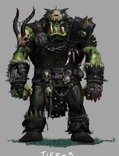 'Orc'(a) welfare study misread by reader.  Warhammer Online concept art.