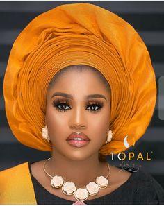African Wedding Attire, African Attire, African Fashion Dresses, African Weddings, Turban, Igbo Bride, African Lace, African Style, African Beauty