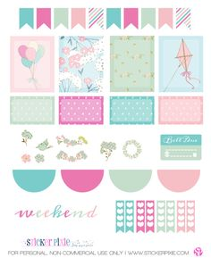Free Printable Garden Breeze Planner Stickers from Sticker Pixie