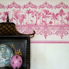 Wallpaper - Cole & Son - Folie - Rousseau Border - Paint & Paper Ltd
