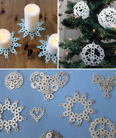 Turn washers into snowflakes!