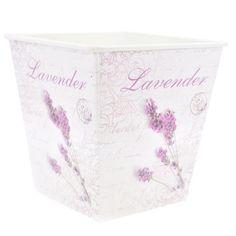 Vaso Pequeno Quadrado Decorado - Estilo Provençal Lavender - R$ 6,99