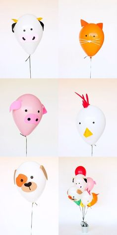 DIY Birthday Party Decoration Ideas That Don't Cost You Much Farm birthday party balloon decorations Farm Animal Party, Farm Animal Birthday, Barnyard Party, Farm Birthday, Birthday Diy, Diy Party Animals, Birthday Animals, Birthday Banners, Birthday Invitations