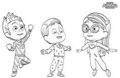 Dibujos e Imágenes de PJ Masks para Imprimir y Colorear