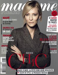 """Cate Blanchett en couverture de """"Madame Figaro"""" cette semaine. 6 décembre 2012"""
