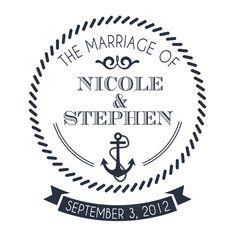 Nautical Wedding Monogram $15