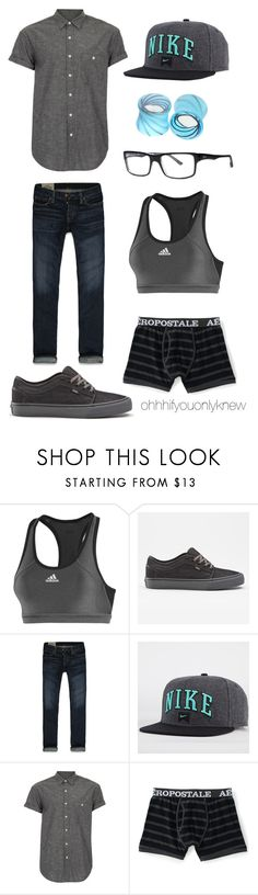 """Untitled #176"" by ohhhifyouonlyknew ❤ liked on Polyvore featuring adidas, Hollister Co., NIKE, Topman, Aéropostale and Hot Topic"