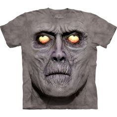 Time for a new cool graphic t-shirt? Try the Zombie Portrait T-Shirt on for size! Shop The Mountain website for the largest and coolest selection of fantasy t-shirts online. Dark Fantasy, Impression Sur Tee Shirt, Zombie Gifts, Zombie Face, Funny Zombie, Zombie Shirt, Big Face, 3d T Shirts, Funny Shirts